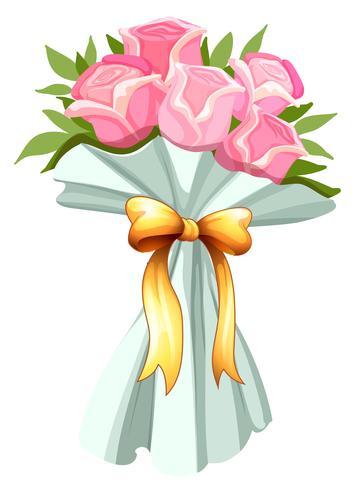 Un mazzo di rose rosa