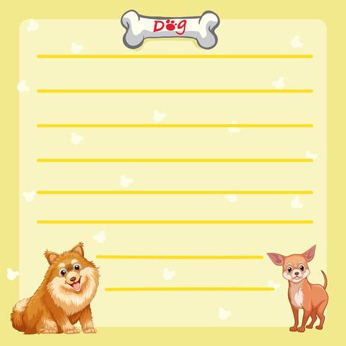 Papierschablone mit niedlichen Hunden
