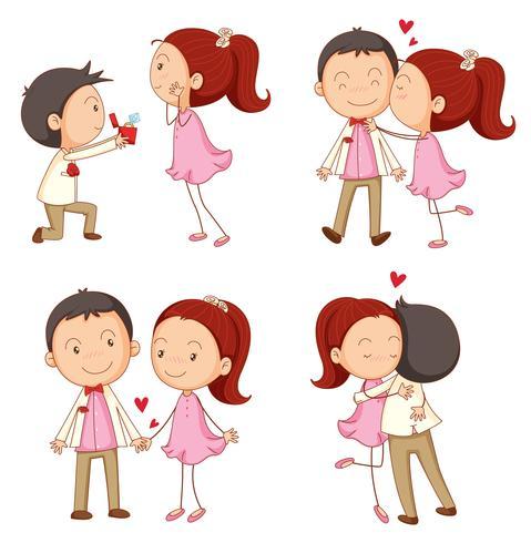 ein Junge und ein Mädchen