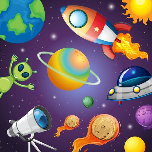 Sistema solar y espacio.