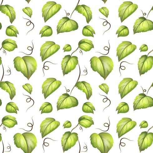 Groen blad naadloos patroon vector