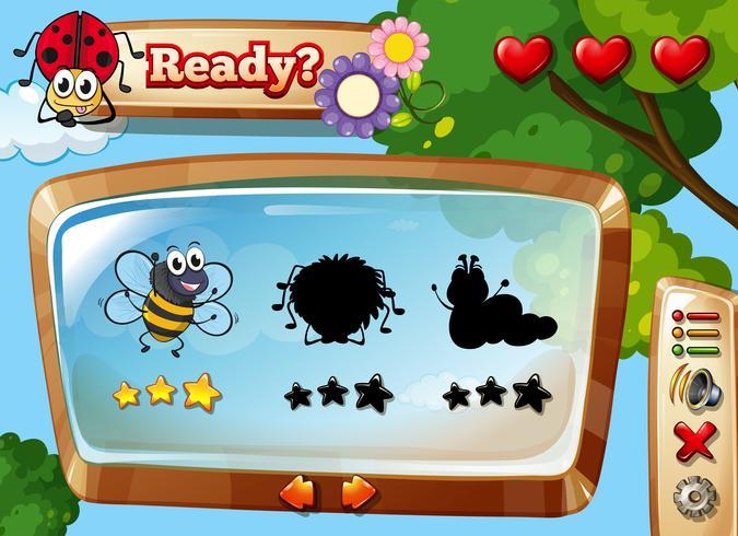Insekten sammeln Spielvorlage