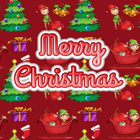 Kerst tekst vector