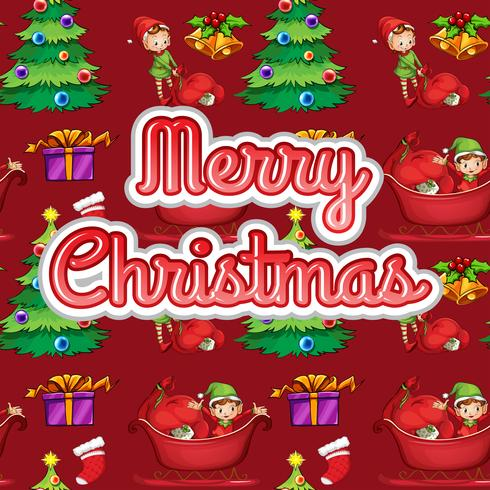 Christmas text vector