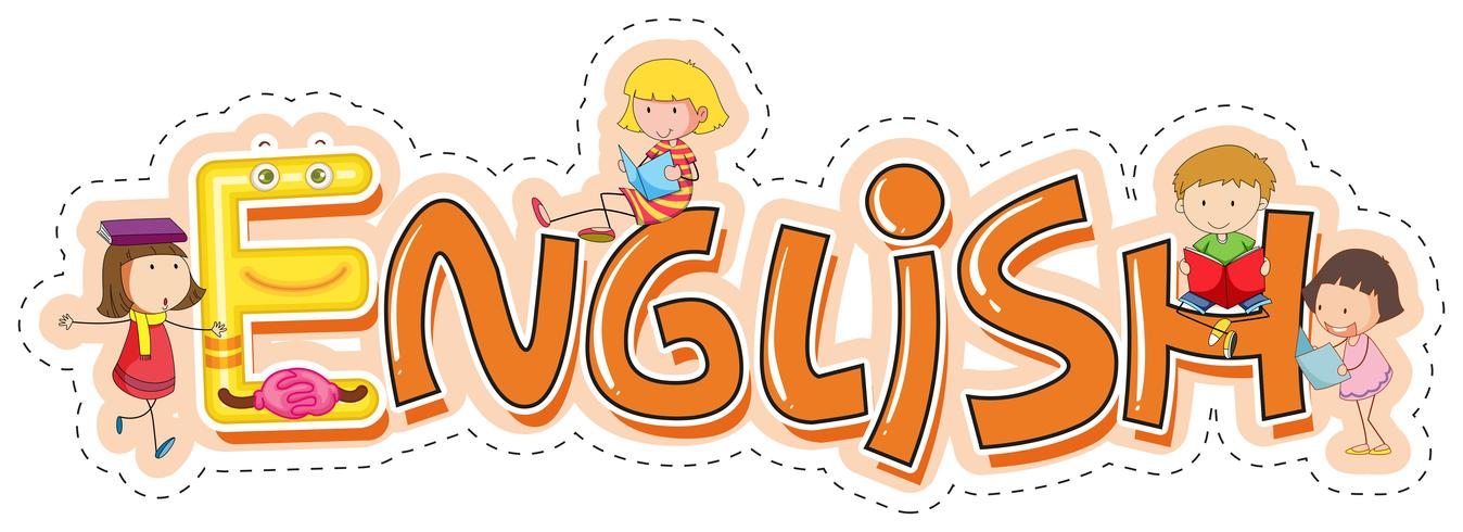 Font design per la parola inglese