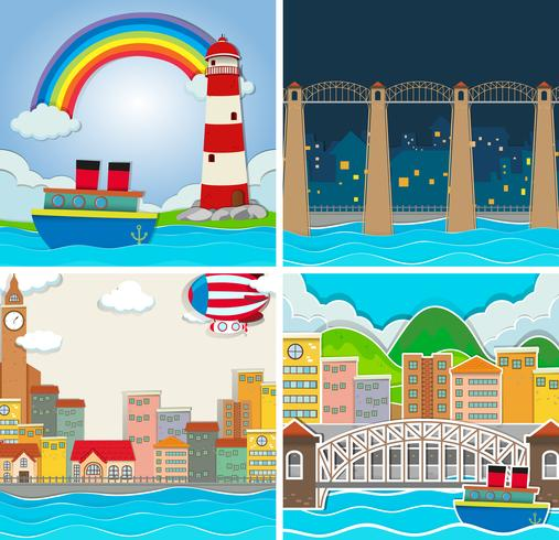 Quatre scènes de ville et de campagne