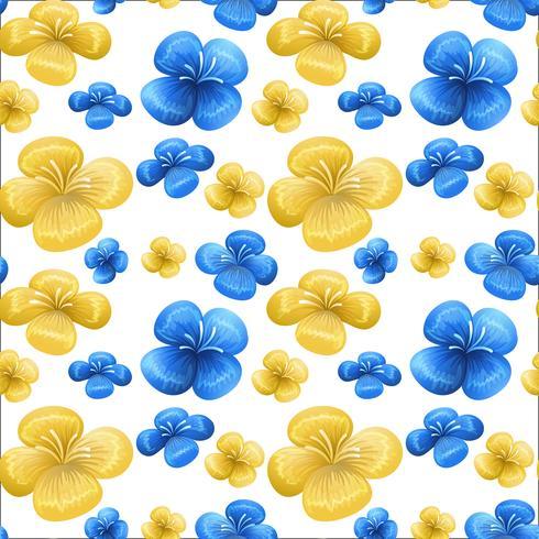 Padrão sem emenda azul e amarelo