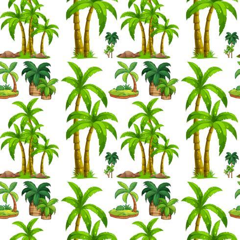 Seamless palm trees and island