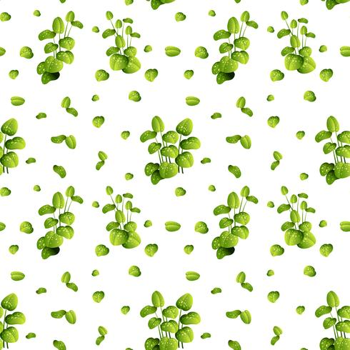 Mooi blad op naadloos patroon