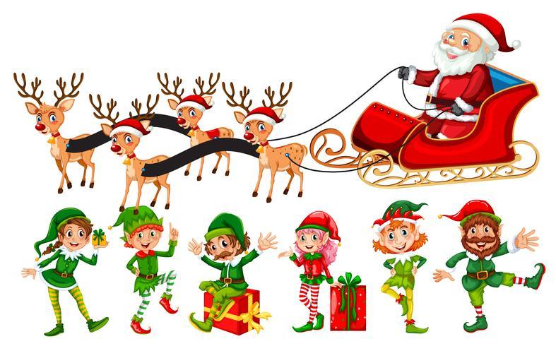 Eine Reihe von Weihnachtscharakter