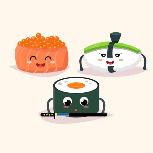 Sushi instellen vector