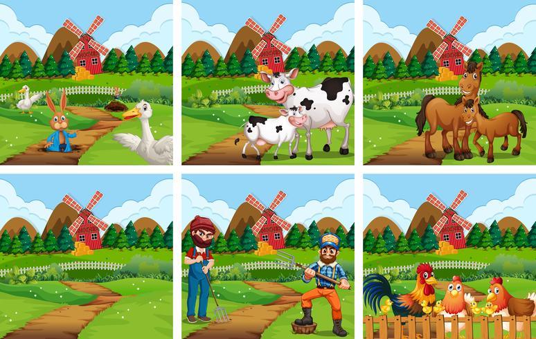 Set van landbouwgrond scène