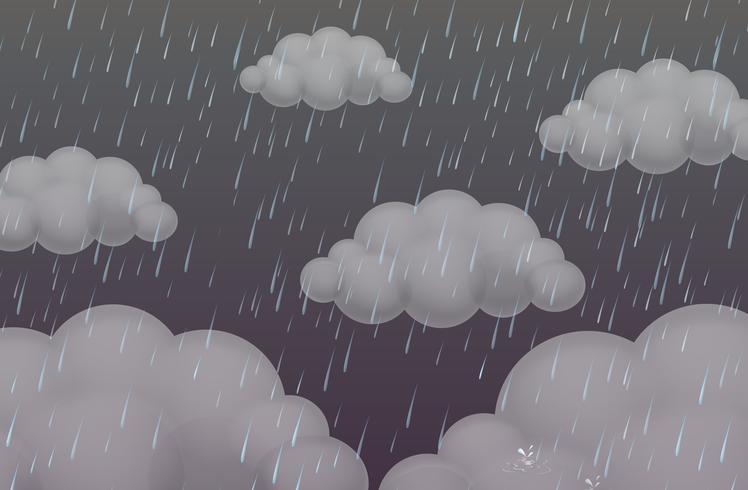 Fondo con lluvia en cielo oscuro