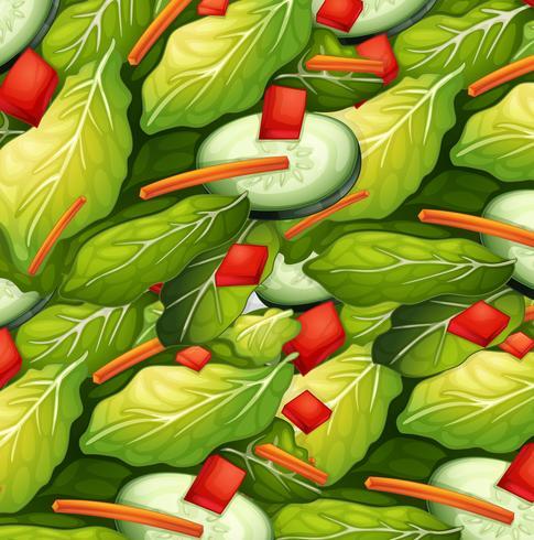 Close Up Healthy Salad Dish vector