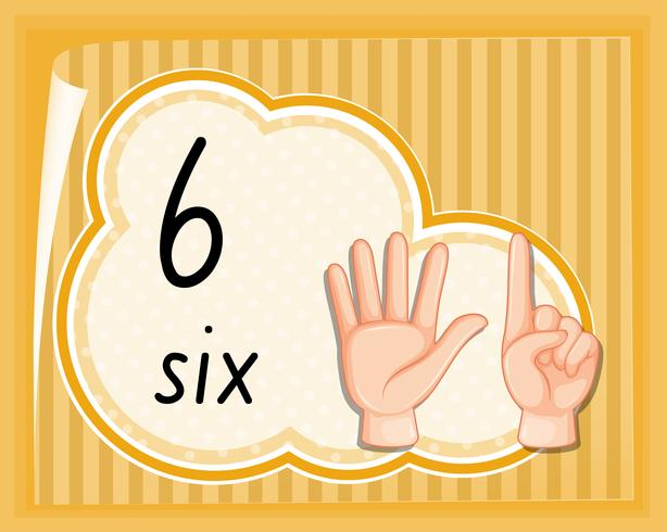 Number six hand gesture