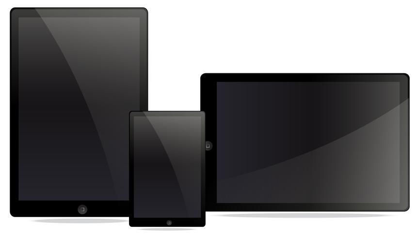 Ein Satz von elektronischen Tablets