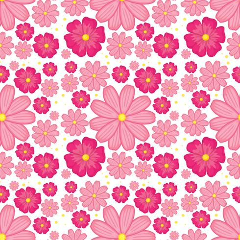 Fundo sem emenda de flor rosa