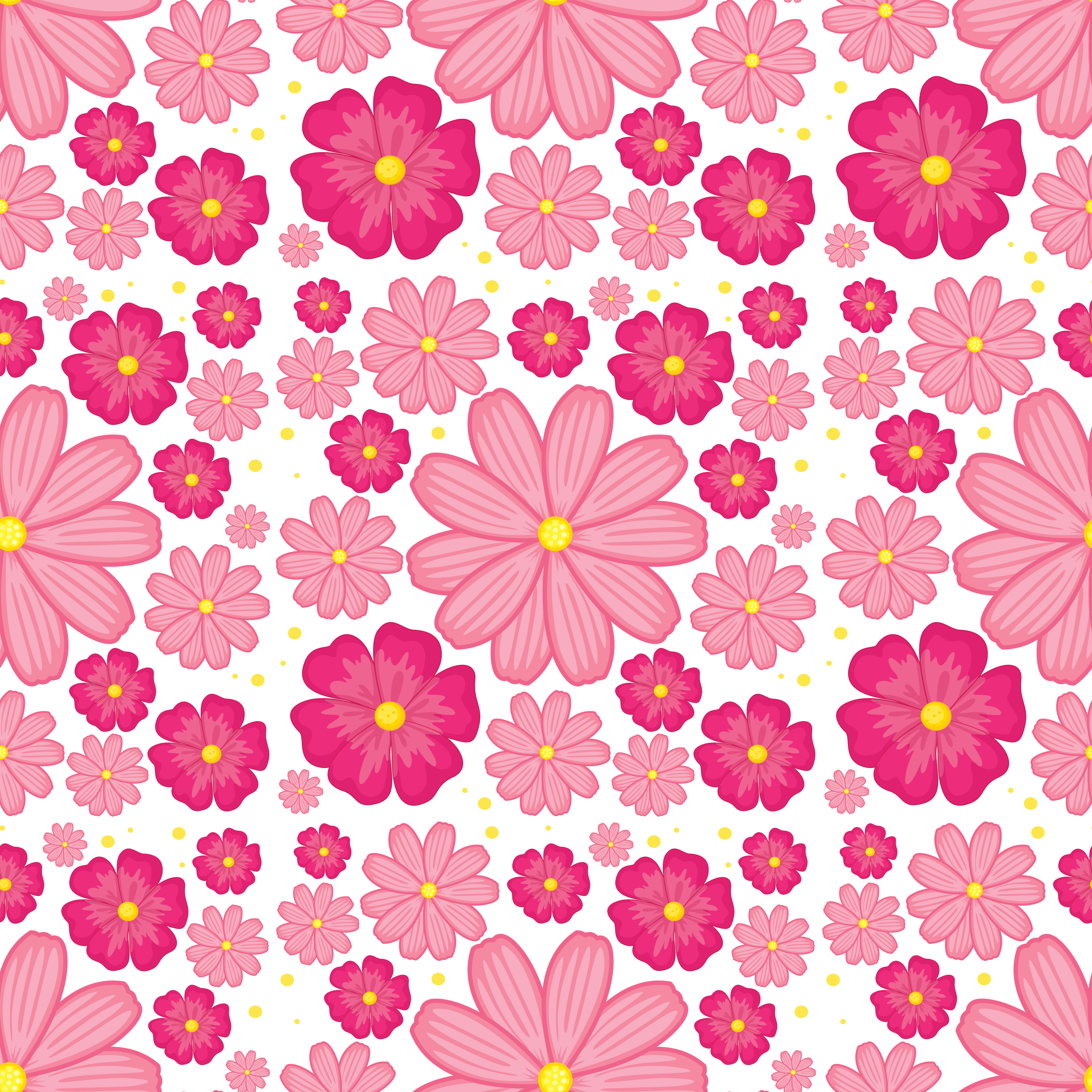 Pink Flower Seamless Background Download Free Vectors
