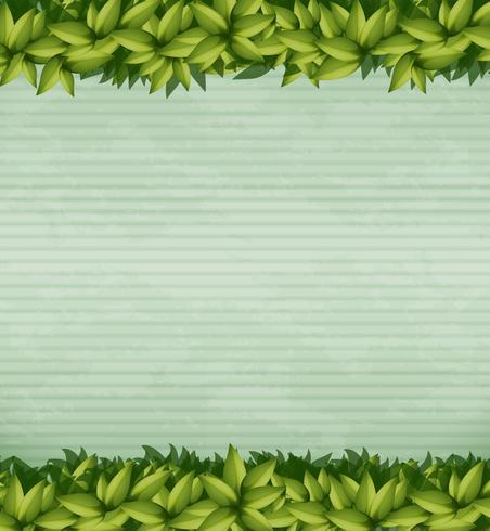 Modelo de nota de planta verde natureza vetor