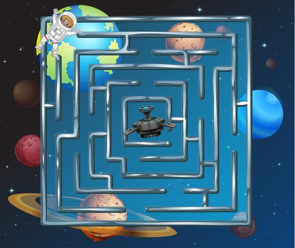 A space puzzle maze game