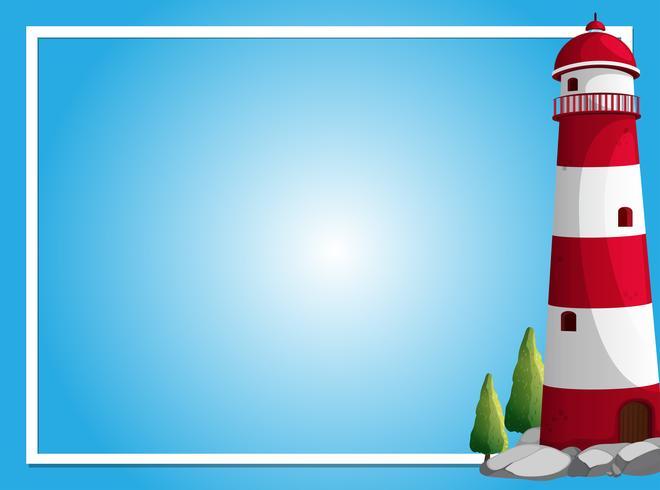 Rahmenvorlage mit Leuchtturm