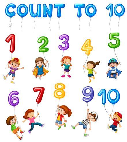 Tarjeta de Matemáticas Couting Número Capítulo