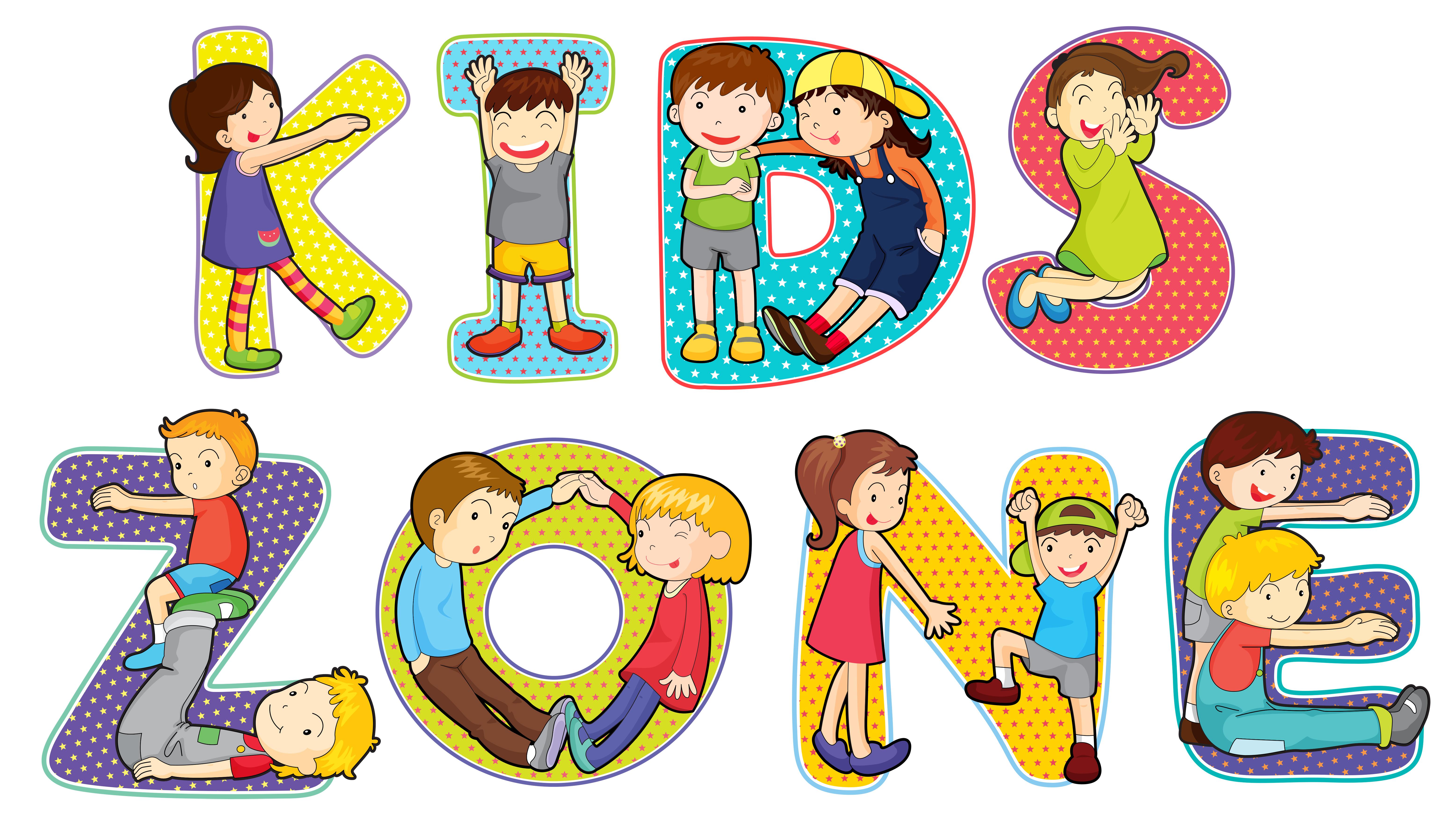 Children on kids zone symbol - Download Free Vector Art ...