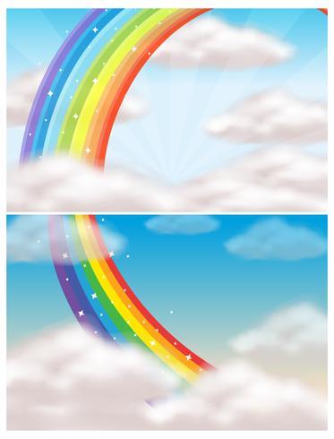 Een mooie lucht en regenboog