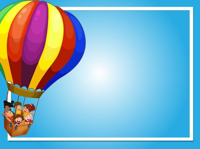 Grenzschablone mit Kindern auf Ballon