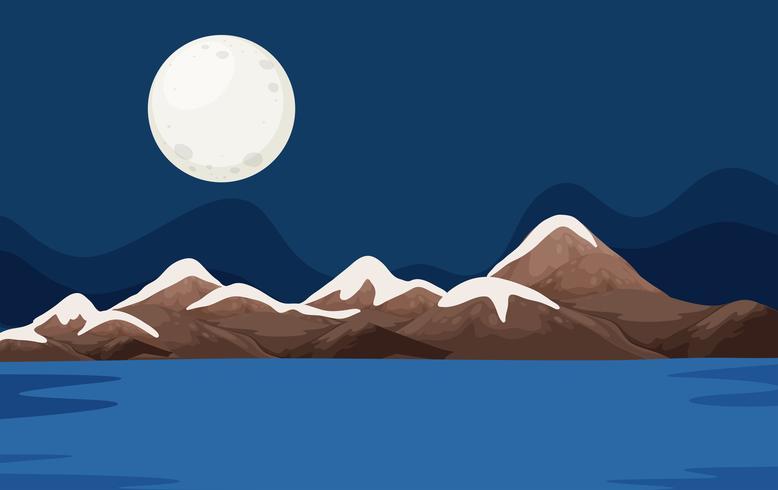 Een nacht oceaantafereel