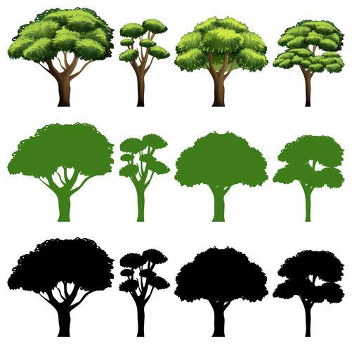 Set van boom ander ontwerp
