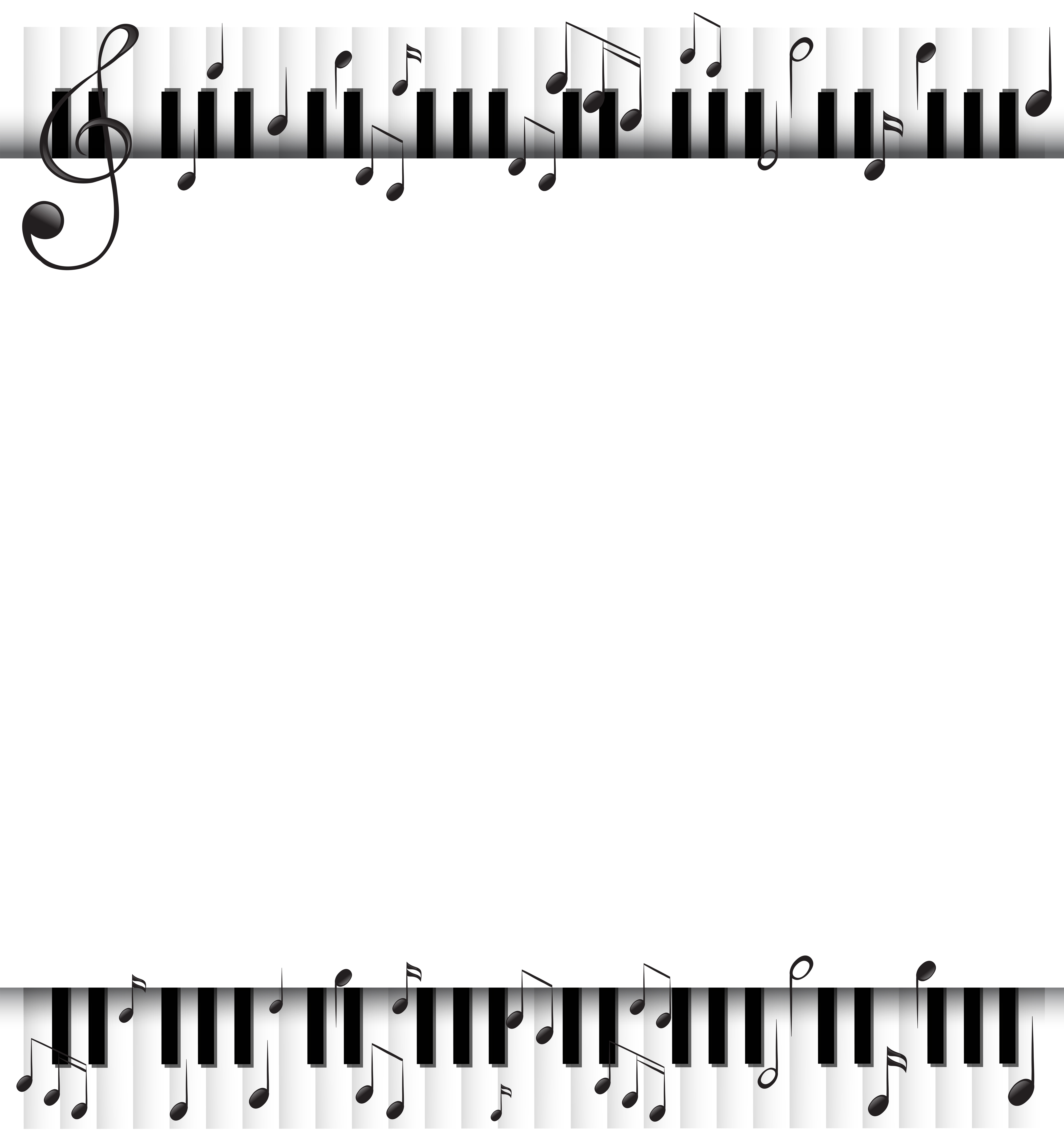 background template with musicnotes and piano