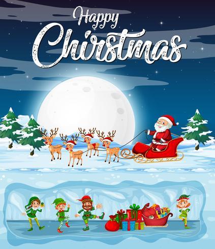 Un modello di cartolina di Natale felice