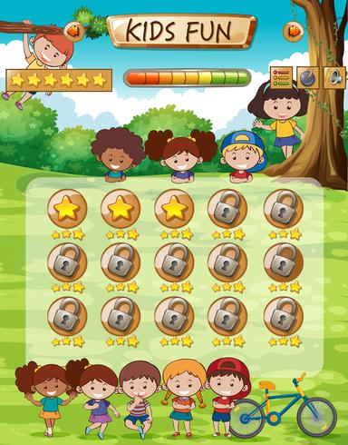 Modèle de jeu amusant pour les enfants vecteur