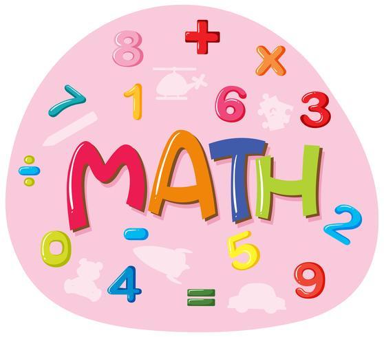 Projeto da etiqueta para a palavra matemática