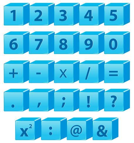 Nummer och matte symbol