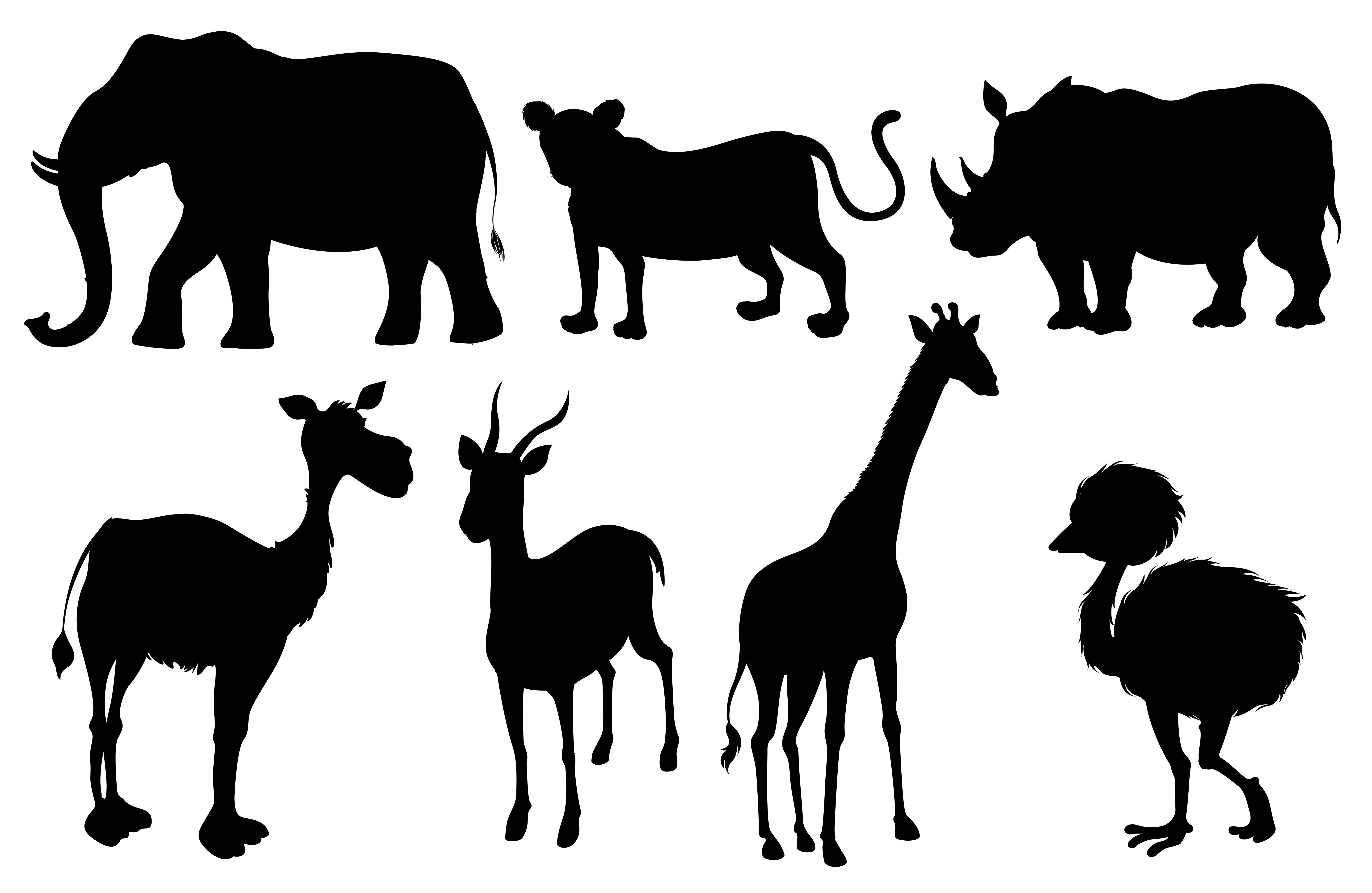 動物剪影 免費下載 | 天天瘋後製