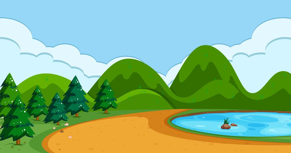 A simple nature scene vector