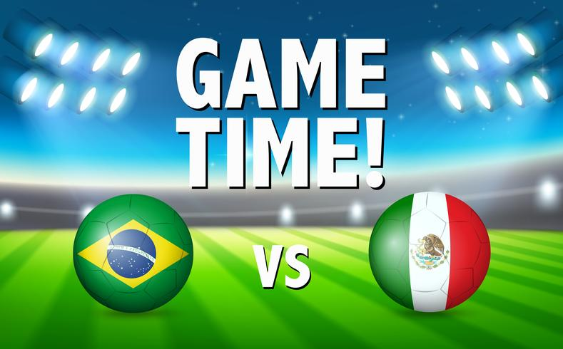 1bbadb6f7 Brazil VS Mexico football match - Download Free Vector Art