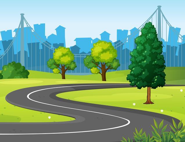 Vågig väg i parken