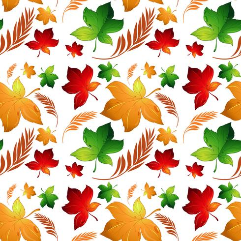 Fundo sem costura de folha de outono