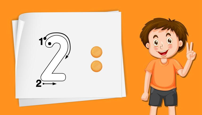 Number two writing practise