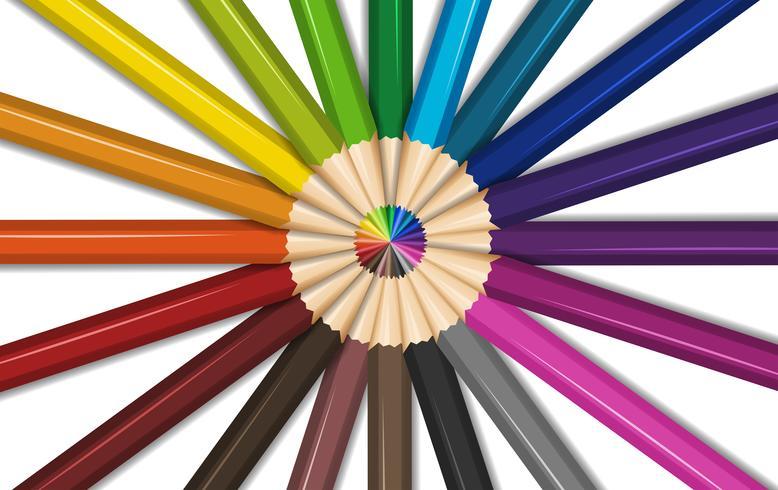 Cores diferentes para lápis de cor