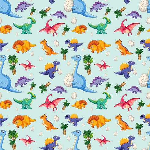 Dinosaure sur modèle sans couture