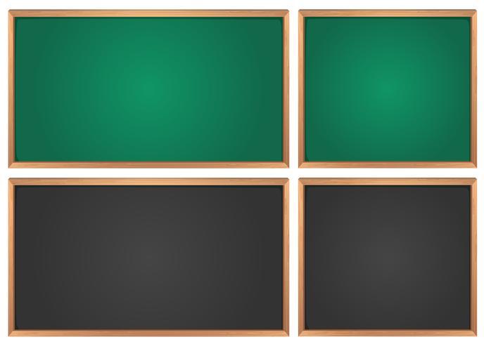 Kreidetafeln in grün und schwarz