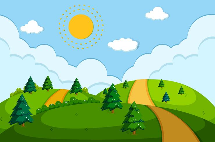 En väg i vacker natur