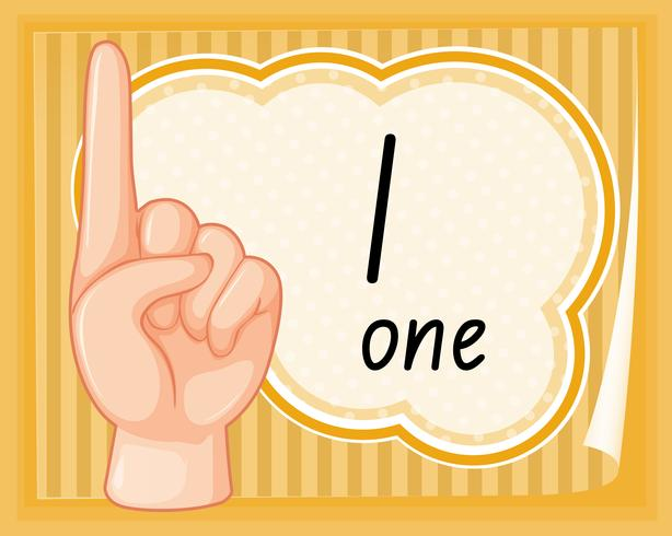 Number one hand gesture vector