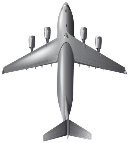 Flygfoto över flygplan på vit bakgrund