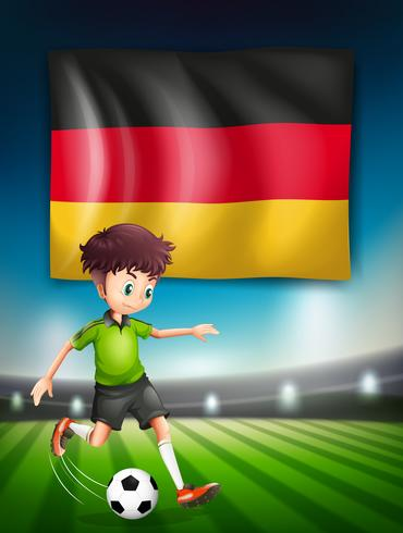 A German soccer player vector