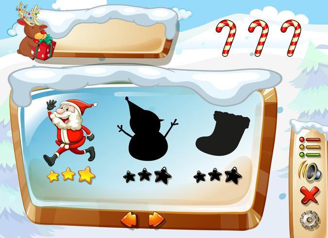 Un modèle de jeu de Noël